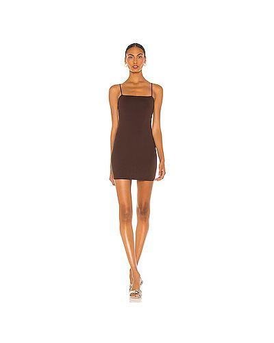 Коричневое нейлоновое платье мини Susana Monaco