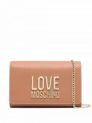 Коричневая сумка на плечо Love Moschino