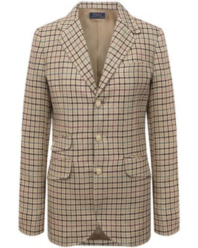 Кожаный пиджак - бежевый Polo Ralph Lauren