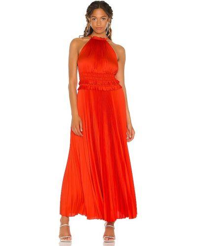Satynowa czerwona sukienka Bcbgmaxazria
