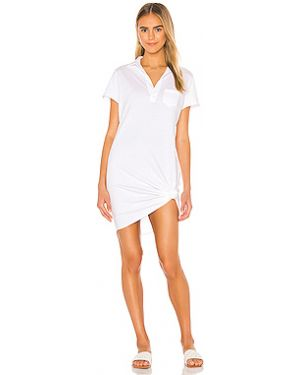 Хлопковое белое платье мини с карманами Frank & Eileen