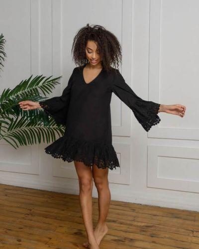 Хлопковое платье - черная Felena
