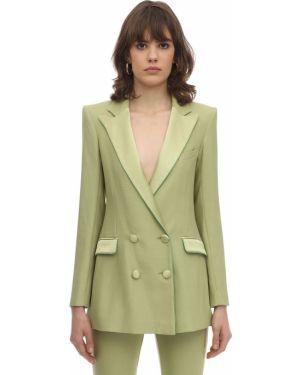 Пиджак двубортный с карманами мятный Hebe Studio