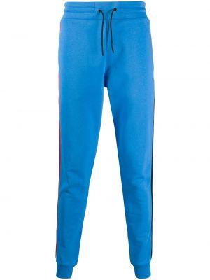 Спортивные зауженные брюки с карманами с манжетами бязевые Rossignol