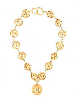 Цепочка золотая позолоченная винтажная Chanel Pre-owned