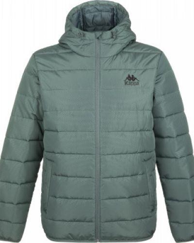 Зеленая теплая короткая куртка на молнии Kappa
