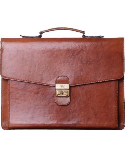 Портфель текстильный коричневый The Trend