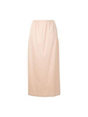 Długa spódnica - beżowa Mm6 Maison Margiela