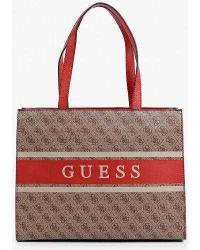Коричневая сумка осенняя Guess