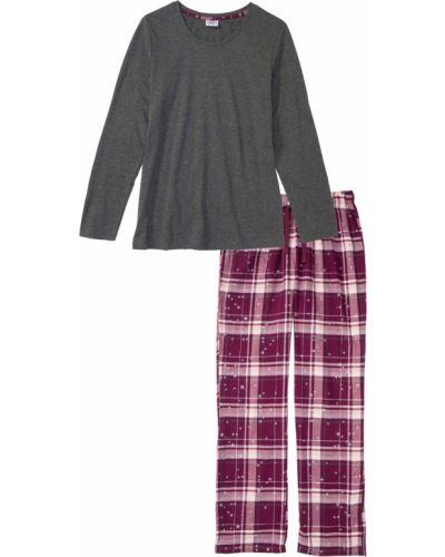Фланелевая пижама - серая Bonprix