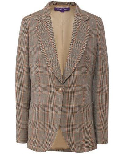 Шерстяной пиджак - коричневый Ralph Lauren