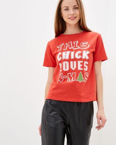 Красная с рукавами футболка Mark Formelle
