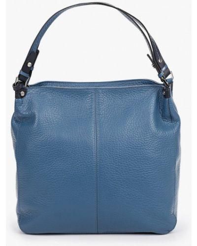 Синяя сумка с ручками из натуральной кожи Labbra