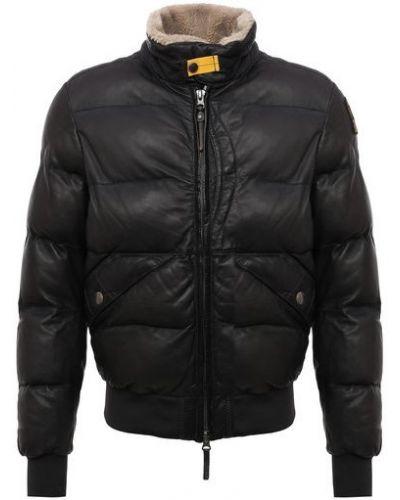 Серая кожаная кожаная куртка Parajumpers