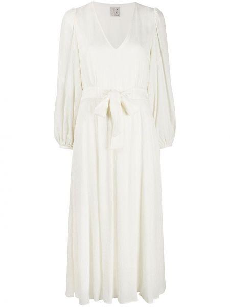 Платье миди с V-образным вырезом расклешенное Lautre Chose