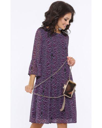 Свободное шифоновое с рукавами платье Dstrend