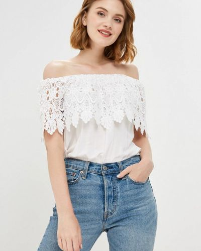 Блузка с открытыми плечами белая Piazza Italia