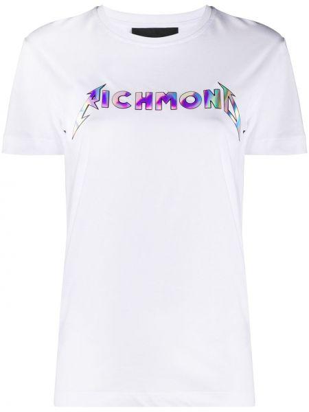 Хлопковая футболка - белая John Richmond