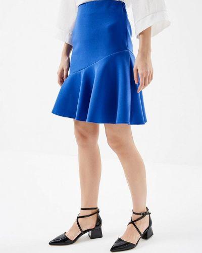 Юбка синяя широкая Marks & Spencer