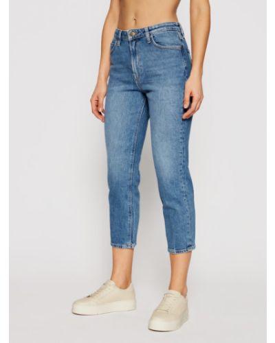 Mom jeans - niebieskie Lee