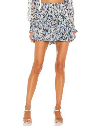 Шифоновая синяя юбка с подкладкой Misa Los Angeles