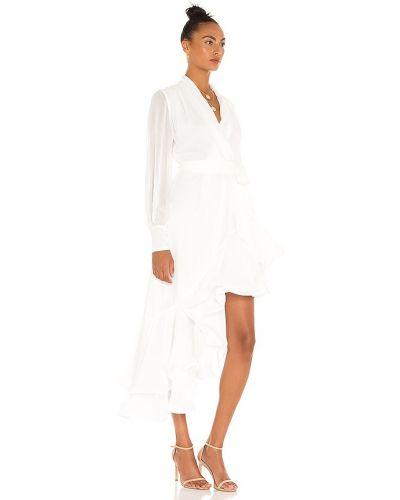 Biała sukienka rozkloszowana casual Elliatt