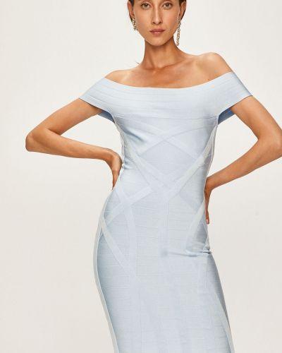 Облегающее платье мини - голубое Marciano Guess