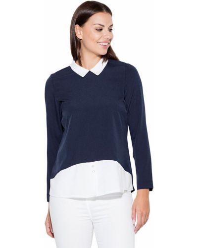 Niebieska bluzka materiałowa Katrus