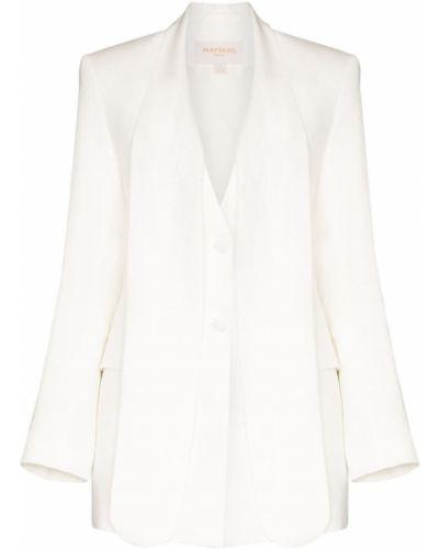 Прямой белый удлиненный пиджак на пуговицах Matériel
