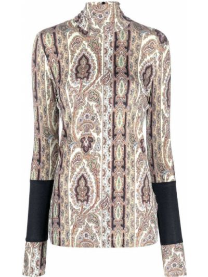 Блузка из вискозы - зеленая Paul Smith