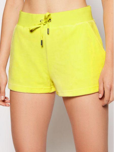 Żółte spodenki sportowe Juicy Couture