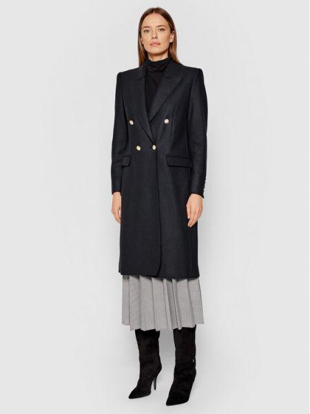Czarny płaszcz wełniany Marella