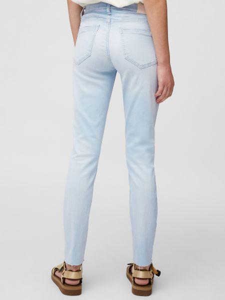Повседневные хлопковые синие укороченные джинсы Marc O'polo Denim