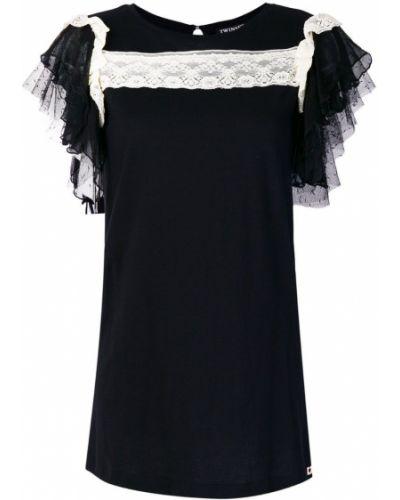 Блузка кружевная с рюшами Twin-set