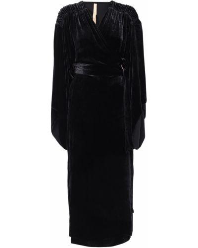 Шелковое платье - черное Maria Lucia Hohan