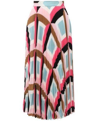 Розовая плиссированная юбка Escada
