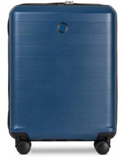 Walizka kabinowa materiałowa - niebieska Echolac