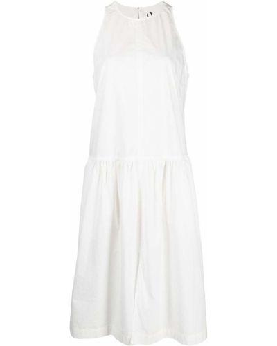 Прямое белое платье без рукавов 8pm