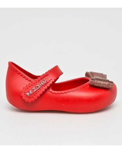 Красные балетки текстильные Zaxy