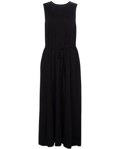 Черное бархатное платье макси классическое Velvet