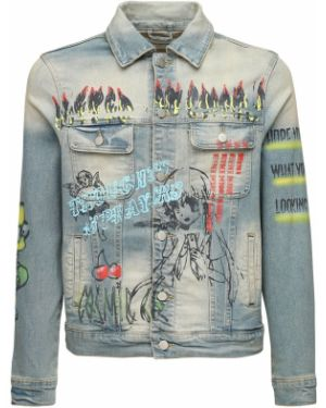Niebieskie jeansy bawełniane vintage Lifted Anchors