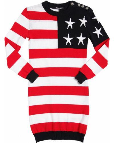 Платье с американской проймой - серебряное Balmain