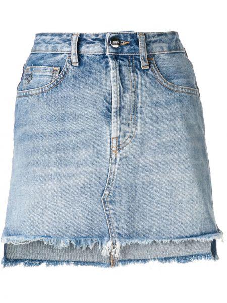 Spódnica mini dżinsowa z guzikami Marcelo Burlon County Of Milan