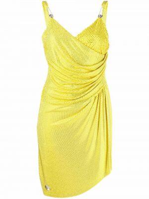 Приталенное платье мини - желтое Philipp Plein