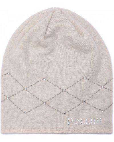 Трикотажная шапка - бежевая Pollini