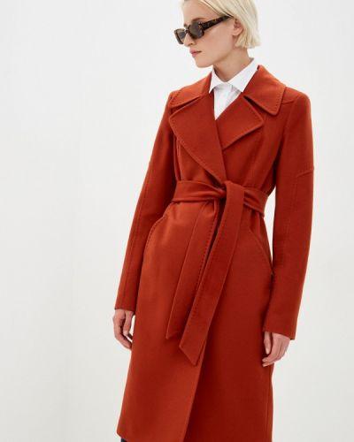 Коричневое пальто Samos Fashion Group