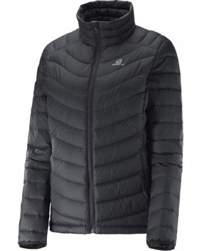 Городская черная пуховая куртка Salomon