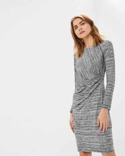 Повседневное платье осеннее серое Wallis