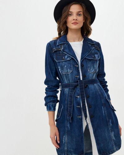 Синее джинсовое платье D'she