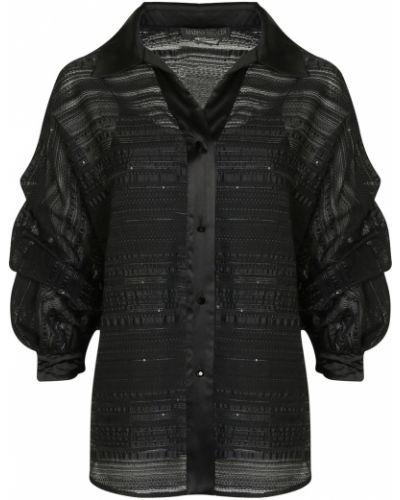 Блузка с пайетками с пышными рукавами Marina Rinaldi